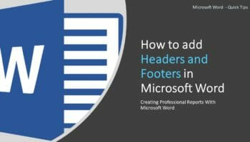 Headers and Footers in Microsoft Word